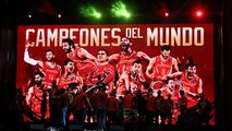 Ovation à Madrid pour les champions du monde de Basket !