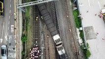 Descarrilamento de trem deixa oito feridos em Hong Kong