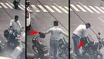 गुजरात में नए ट्रैफिक जुर्माने लागू होने के पहले ही दिन हेलमेट चुराते शख्स का वीडियो वायरल