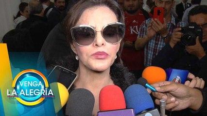 Lucía Méndez no quiso hablar de supuesta boda entre Vero Castro y Yolanda Andrade.| Venga La Alegría