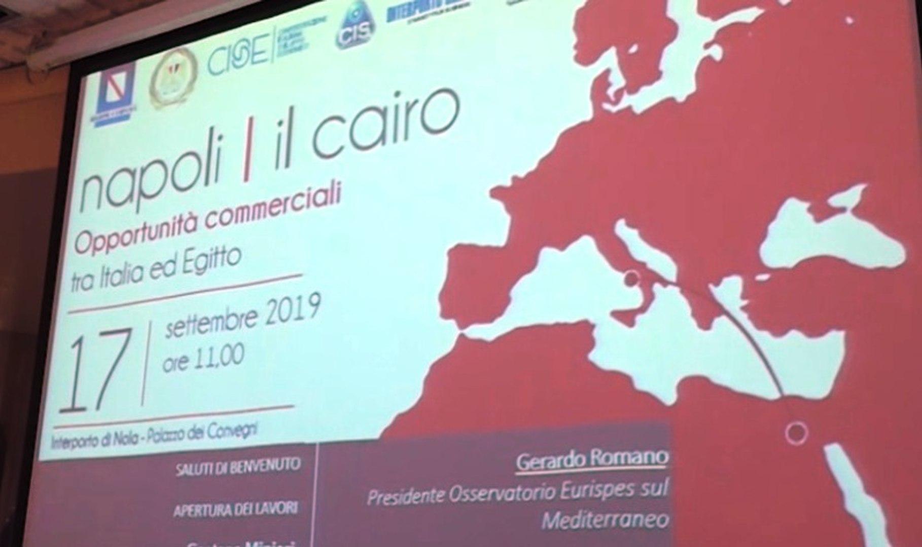 Nola (NA) - Commercio Italia-Egitto, delegazione del Cairo accolta al Cis (17.09.19)