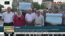 Rechazan sirios de Alepo la presencia de ejército de EE.UU. en su país