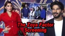 The Zoya Factor screening | Former cricketers Ajit Agarkar, Zaheer Khan attend