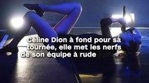 Céline Dion à fond pour sa tournée, elle met les nerfs de son équipe à rude épreuve !