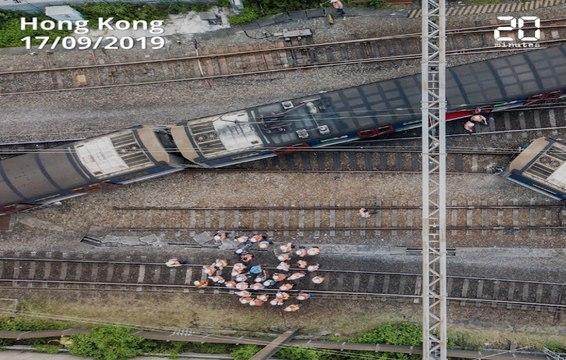 Hong Kong: Un métro déraille à l'heure de pointe, huit personnes blessés