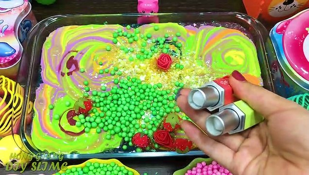 Mixing Random Things into Slime!! Relaxing with Piping Bags Slimesmoothie Satisfying Slime  #37