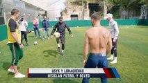 Mezclan fútbol y boxeo en una dinámica | Azteca Deportes