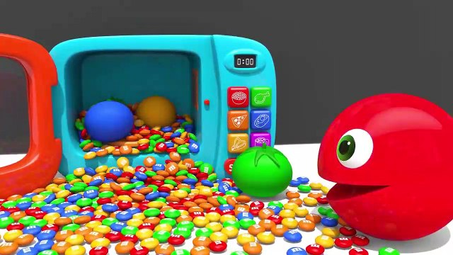 Learn Colors with PACMAN VS Street Vehicle Surprise SoccerBall in Magic Slide Sand for Kids