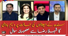 Waseem Badami's innocent question to Shehla Raza on the condition of Sindh hospitals