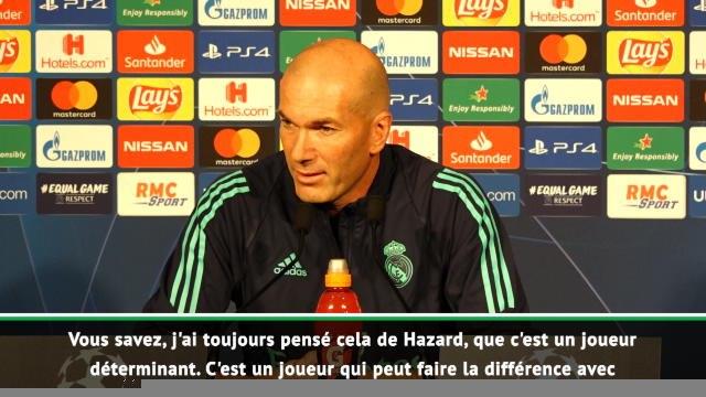 """Groupe A - Zidane : """"Hazard va devenir un joueur très important"""""""