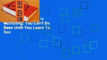 [GIFT IDEAS] This is Marketing: You Can't Be Seen Until You Learn To See