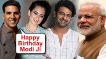 Kangana Ranaut, Akshay Kumar, Prabhas | Bollywood Stars Birthday Wishes For Narendra Modi