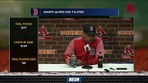 Red Sox Manager Alex Cora On Team's Extra Inning Approach Vs. Giants