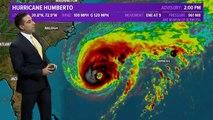 """L'ouragan Humberto est devenu hier soir un ouragan """"majeur"""" avec des vents à 185 KM/H, et se rapproche des Bermudes"""