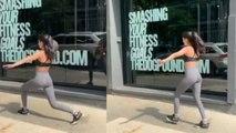 Navya Naveli Nanda's workout in New York streets;Watch video | FilmiBeat