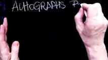""" BARBRA STREISAND "" AUTOGRAPHS, PRIVATE COLLECTION JAK ARNOULD ©ADAGP"