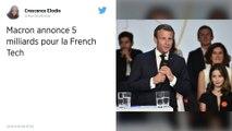 Emmanuel Macron annonce 5 milliards d'euros d'investissements dans la tech française