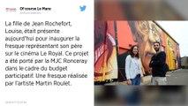 Une fresque représentant Jean Rochefort inaugurée au Mans