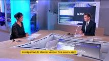 Immigration : le discours d'Emmanuel Macron fait jaser
