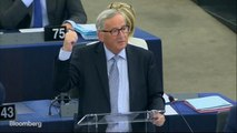 EU's Juncker Says Risk of a No-Deal Brexit Is `Palpable'