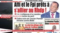 Le Titrologue du 18 Septembre 2019 : Présidentielle 2020, Affi et le FPI prêts à s'allier au RHDP