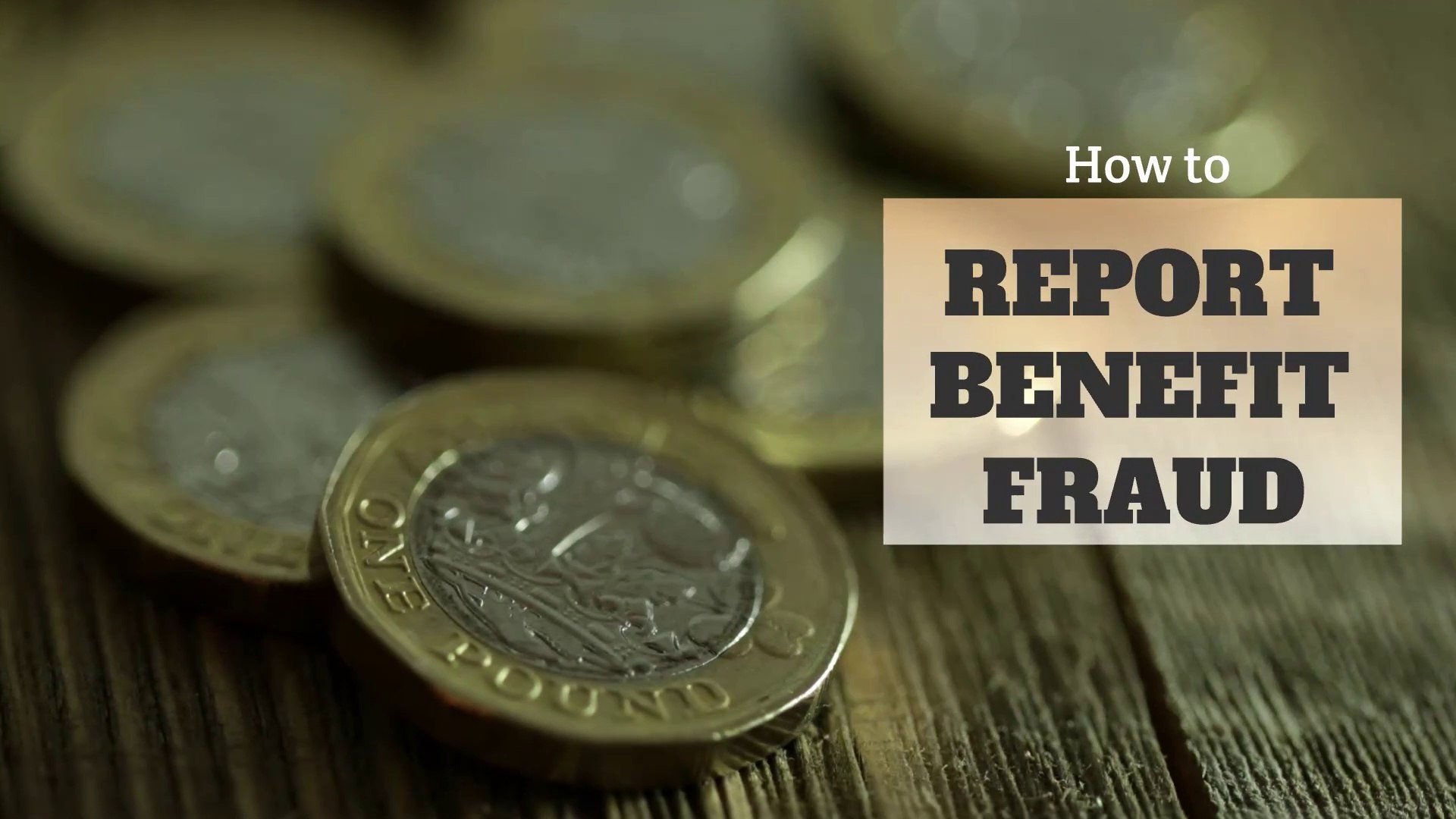 Benefit Fraud How To Report Benefit Fraud Video Dailymotion
