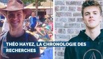 Théo Hayez, la chronologie des recherches