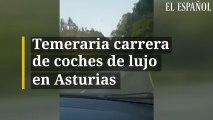 Temeraria carrera de coches de lujo en Asturias