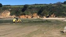 Douarnenez. 165 m³ d'algues vertes ramassées sur la plage du Ris