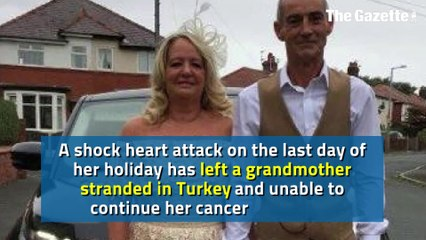 Family's plea to help get mum home to carry on cancer treatment after shock heart attack on holiday