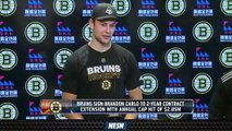 Brandon Carlo Signs Two-Year Contract Extension With Bruins