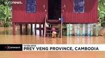 Le Cambodge touché par de graves inondations