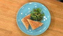 Club sandwich poulet et beurre de cacahuete