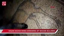 Kaçak kazıda Roma dönemine ait mozaik bulundu