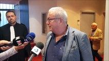 Les réactions du maire de Saint-Alban-les-Eaux Pierre Devedeux et de son avocat Me Fabien Lambert à l'issue de l'audience correctionnelle