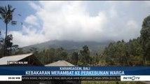 Puluhan Hektare Lahan Sekitar Gunung Agung Terbakar