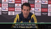 Groupe F - Emery revient sur le repas des joueurs d'Arsenal