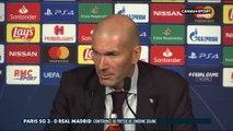 Zidane s'exprime après la défaite du Real face au PSG