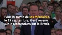"""""""Je suis désolé"""": l'ex-Premier ministre britannique David Cameron revient sur le référendum pour le Brexit"""