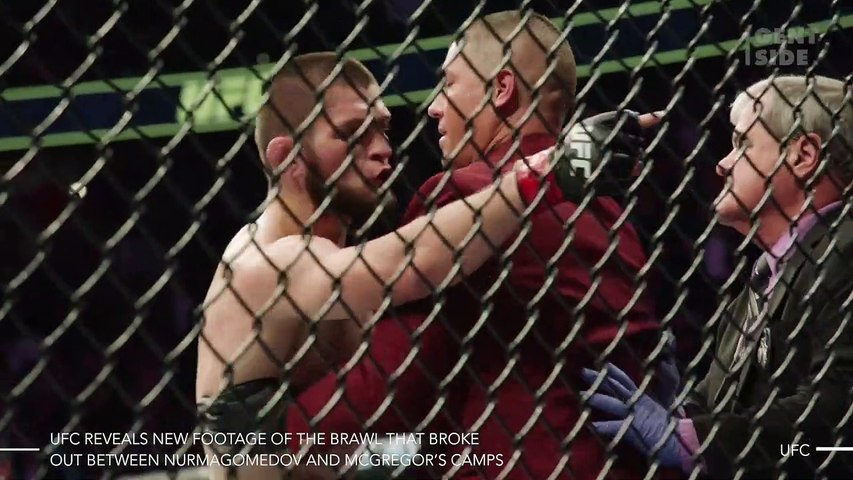 UFC Releases New Footage Of The Brawl That Broke Out Between The Nurmagomedov And McGregor Camps (VIDEO)