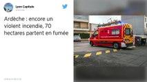 Ardèche : Un violent incendie détruit 70ha dans la forêt près de Lagorce