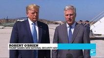 US - President Donald Trump names Robert O'Brien as new national security adviser