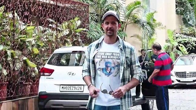 Hrithik Roshan Being A Meme War with T-shirt of A Flying Jatt