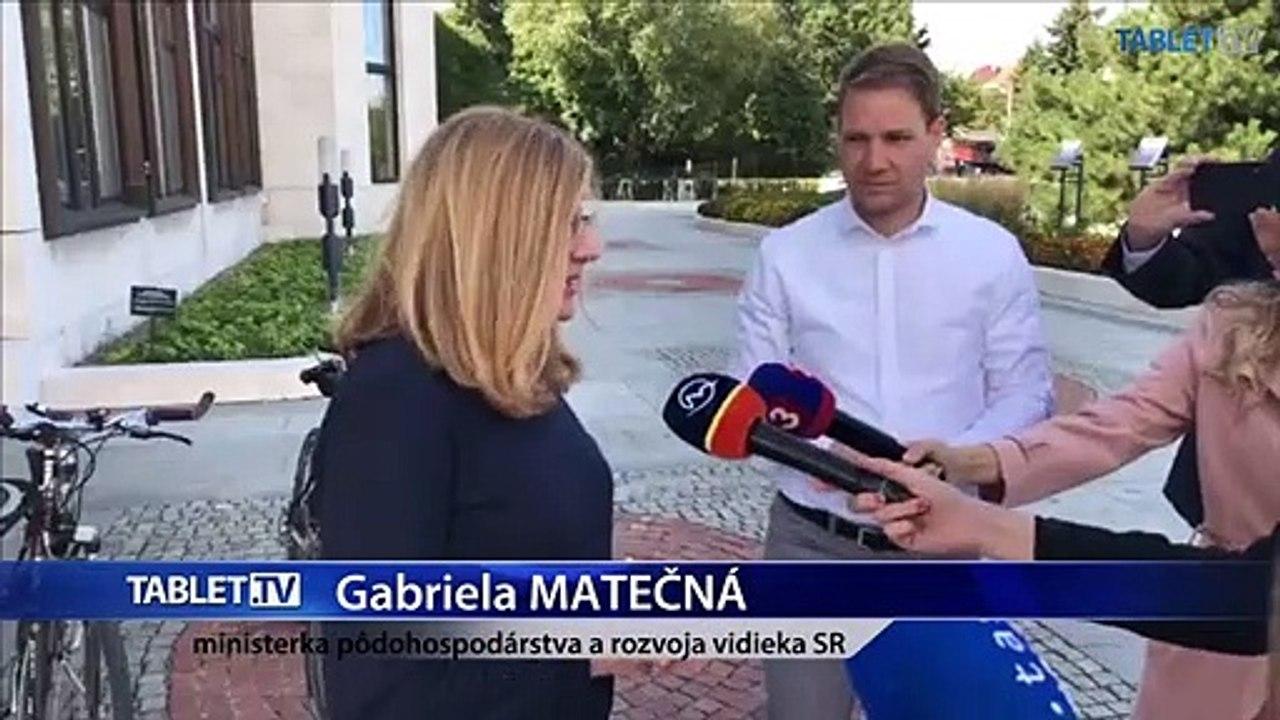 ZÁZNAM: Brífing ministerky pôdohospodárstva a rozvoja vidieka SR Gabriely Matečnej
