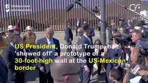 Trump Shows Off His 'Wall Sample'