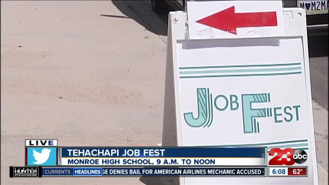 Job Fest Kern County is hosting its first-ever hiring event in Tehachapi today
