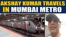 Akshay Kumar beats Mumbai traffic by travelling in the metro, video goes viral