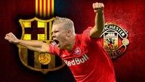 يورو بيبرز: صراع بين برشلونة ومانشستر يونايتد على ضم مهاجم شاب مميز