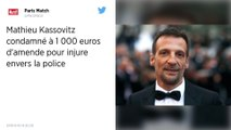 «Bande de bâtards»: Mathieu Kassovitz condamné pour injure envers la police