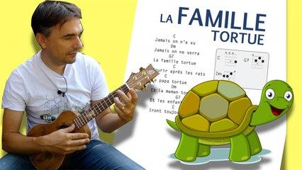 La famille Tortue - Comptine pour enfants [ ukulélé facile ]
